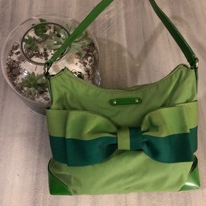 Kate Spade green bow purse